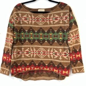 Denim & supply Ralph Lauren brown Aztec sweater M